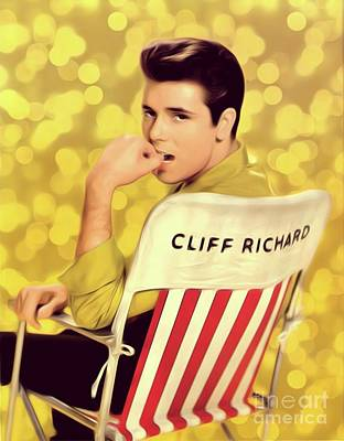 Music Digital Art - Cliff Richard, Pop Legend by Mary Bassett