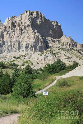 Cliff Shelf Trail In Badlands National Park South Dakota Art Print by Louise Heusinkveld