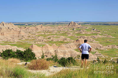 American Photograph - Cliff Shelf Trail Viewpoint In Badlands National Park by Louise Heusinkveld