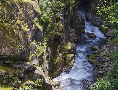Photograph - Cliff Side Of River On Mt. Rainier by Lynn Hansen