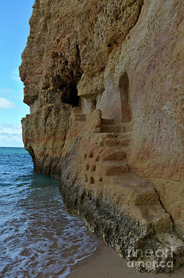 Photograph - Cliff Staircase In Carvalho Beach. Algarve by Angelo DeVal