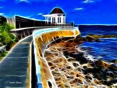 Rhode Island Digital Art - Cliff Walk by Stephen Younts