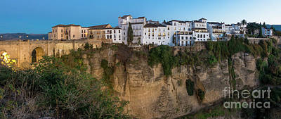 Photograph - Cliff With Bridge Ronda, Spain by Perry Van Munster