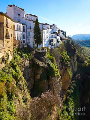 Andalucia Photograph - Cliffhouses Ronda Spain by Lutz Baar