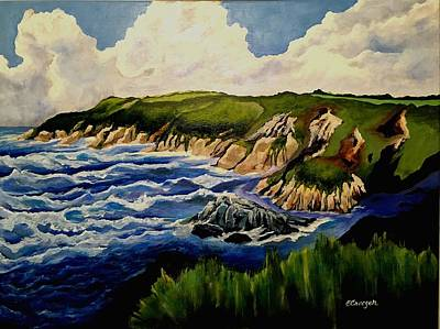Painting - Cliffs And Sea by Esperanza J Creeger