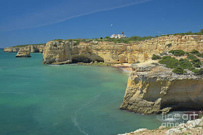 Portuguese Photograph - Cliffs And Sea Scenery In Lagoa by Angelo DeVal