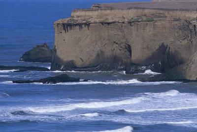 Cliffs And Surf - Santa Cruz County Art Print