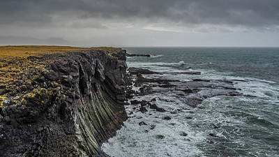Photograph - Cliffs At Arnarstapi by James Billings