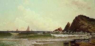 Cliffs At Cape Elizabeth Art Print