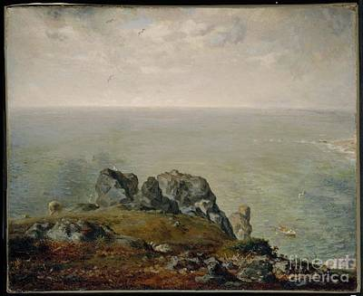 1870-71 Painting - Cliffs At Gruchy  by MotionAge Designs