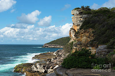 Cliffs At Manly Art Print