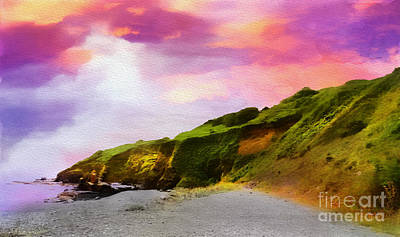Photograph - Cliffs At Porthkerris by Judi Bagwell