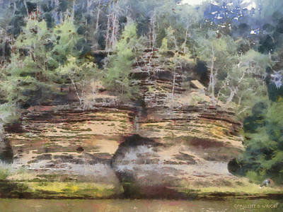 Photograph - Cliffs At The Dells by Paulette B Wright