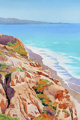 Painting - Cliffs At Torrey Pines 2016 by Mary Helmreich