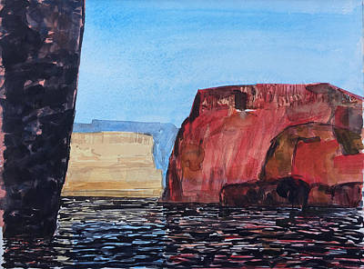 Painting - Cliffs Drifting I by Vaughan Davies