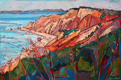 Cliffs In Color Print by Erin Hanson