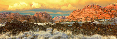 Snow Canyon State Park Photograph - Cliffs In Snow Canyon State Park by Panoramic Images