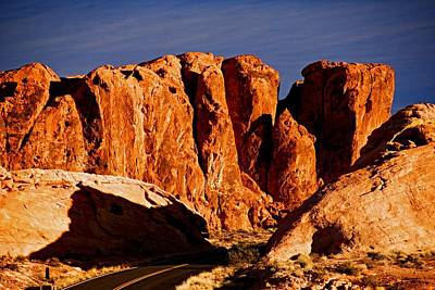 Photograph - Cliffs In Valley Of Fire State Park, Nv by Michael Courtney