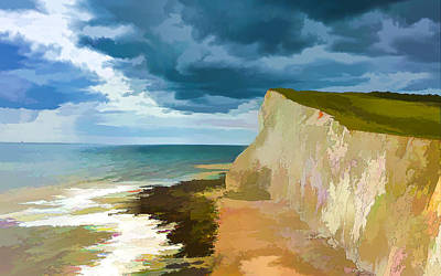 Seaford Painting - Cliffs by Lanjee Chee
