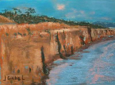 Wall Art - Pastel - Cliffs by Laura Gabel