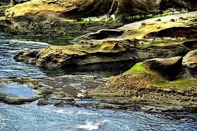 Photograph - Cliffs Meet The Sea by Jerry Sodorff