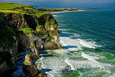 Portrush Photograph - Cliffs Near Portrush In Northern Ireland by Andreas Berthold