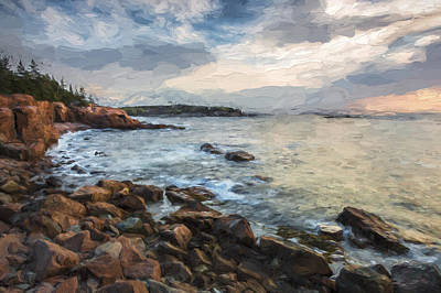 Maine Landscapes Digital Art - Cliffs Of Acadia II by Jon Glaser
