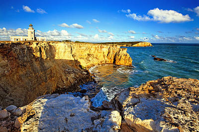 Cliffs Of Cabo Rojo At Sunset Art Print by George Oze