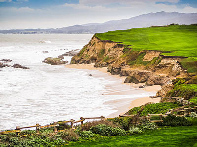 Photograph - The Cliffs At Half Moon Bay by Robin Zygelman