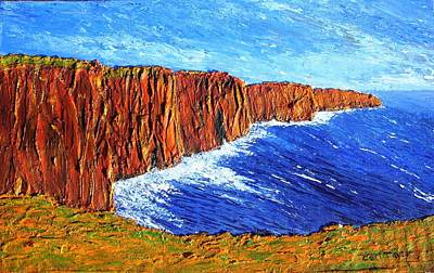 Wall Art - Painting - Cliffs Of Moher by Carl Taylor