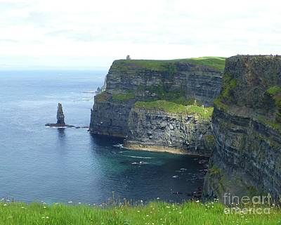 Photograph - Cliffs Of Moher Cloud Break by Barbie Corbett-Newmin
