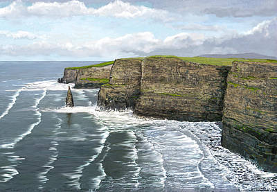 Images Of Ireland Digital Art - Cliffs Of Moher by David O Reilly