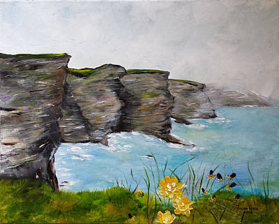 Painting - Cliffs Of Moher by Judith Rhue