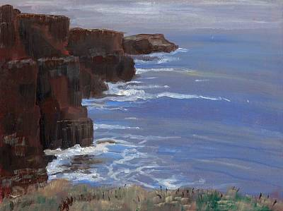 Cliffs Of Mohr Art Print by Cathy France