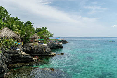 Photograph - The Cliffs Of Negril by Debbie Ann Powell