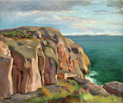 Acquamarine Painting - Cliffs On The Shore Of Kaivopuisto by Eero Jarnefelt
