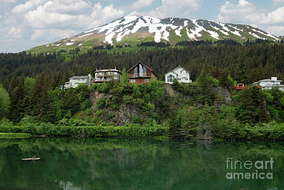Dock Photograph - Wooden Houses On Cliff View Place, Seward by Dani Prints and Images