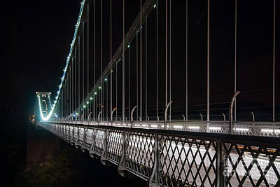 Photograph - Clifton Suspension Bridge At Night by Colin Rayner