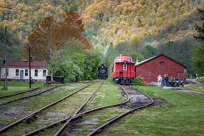 Photograph - Climax Geared Locomotive by Mary Almond