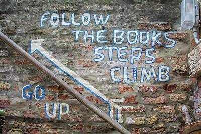 Climb The Books Art Print by Rainbeau Decker