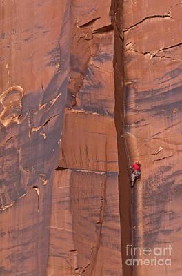 Photograph - Climber Indian Creek by Yva Momatiuk John Eastcott
