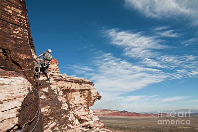 Photograph - Climbing At Red Rocks by Olivier Steiner
