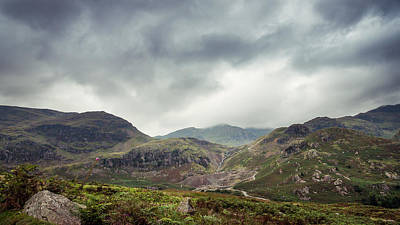 Winding Road Photograph - Climbing Coniston by Chris Dale