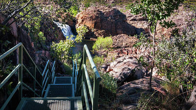 Photograph - Climbing Down To Edith Falls, Northern Territory, Australia by Daniela Constantinescu