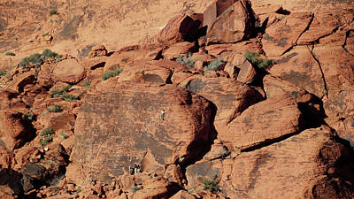 Photograph - Climbing In Red Rock Canyon by Leslie Montgomery