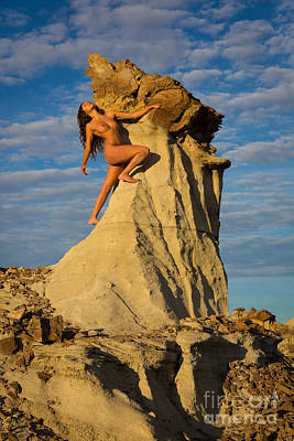 Fine Art Nude Figure Study Photograph - Climbing by Inge Johnsson