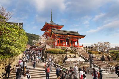Photograph - Climbing The Stairs Of Kiyomizudera by Karen Jorstad