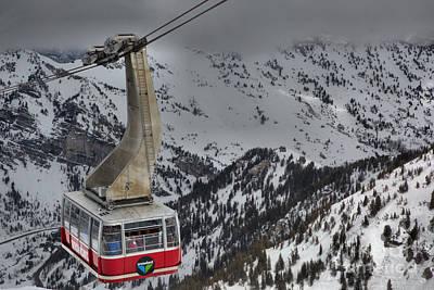 Photograph - Climbing To Snowbird Hidden Peak by Adam Jewell