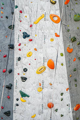 Photograph - Climbing Wall Showing A Wide Variety Of Handholds  by Bryan Mullennix