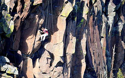 Photograph - Climbing With My Shadow by AJ  Schibig